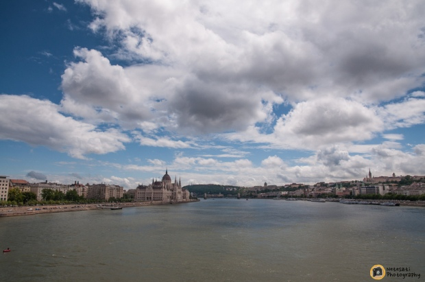 Buda and Pest devided by the Danube